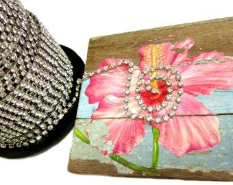 SS16 Rhinestone Chain, Rhinestone Trim, Bridal Chain, Bouquet Chain, Cake Topper Chain, Vintage Trim, 3 feet length