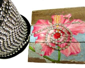 SS18 Rhinestone Chain, 3 feet length, Vintage Trim, Rhinestone Trim, Bouquet Chain, Bridesmaid bracelet, headpiece Chain