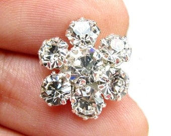 20pcs Crystal Rhinestone buttons for wedding invitation cards hair accessories scrapbooking RB-049C (15mm or 0.6 inch)