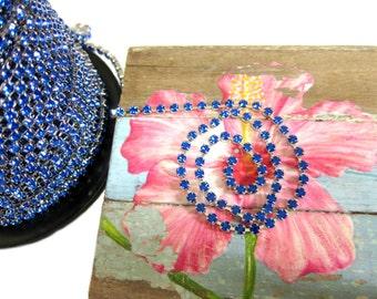 Royal Blue Rhinestone Chain, SS16 size 4mm, 3 feet, Rhinestone Trim, Vintage Trim, Something Blue Trim