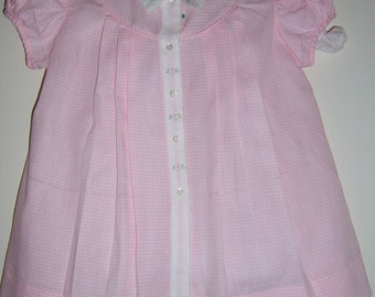 Vintage 1950 Pink and White check Toddler Dress