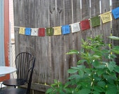 Permaculture Principles Prayer Flags -- set of 12