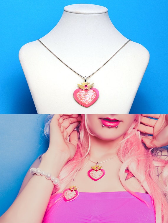 Moon Crisis NECKLACE Sailor Moon Chibi Moon Jewelry Cosplay Kawaii Lolita Fairy Kei Decora