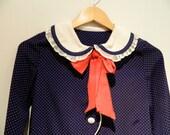 1960s sailor polka dot baby doll dress