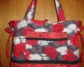 Red Clouds and Chrysanthemums Purse/Tote/Diaper Bag/Handbag