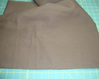 VINTAGE Dark Chocolate Brown Polyester woven fabric