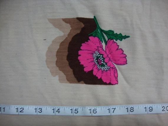 Vintage knit Floral Print 2 yards 36 in wide