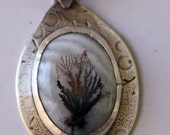 Dendritic Agate Pendant--Amazing and Beautiful in a Rustic Setting