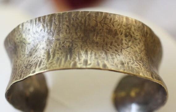 Anticlastic Brass Cuff Bracelet Medium