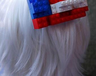 Lego Hair clip Patriotic