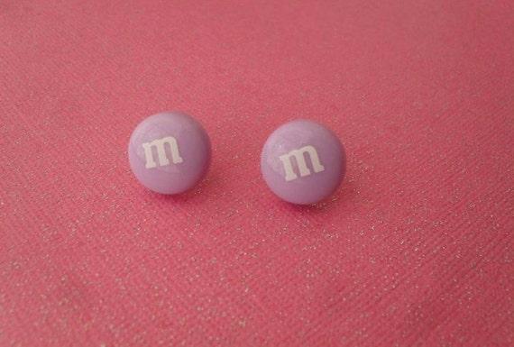 purple m&m's studs