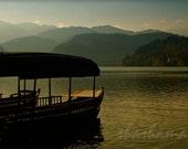 Float into the dream,  Autumn-Fall at Lake Bled, Slovenia, 10x15 art photo print