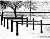 Snow levels, repetition 8x12 fine art photography print, winter, ice and snow scene