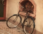 Time to rest 8x8 Fine art photo, bicycle in Poland