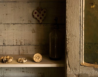 You've got to hide your love away, Shabby chic, rustic 5x7 Art Photo Print