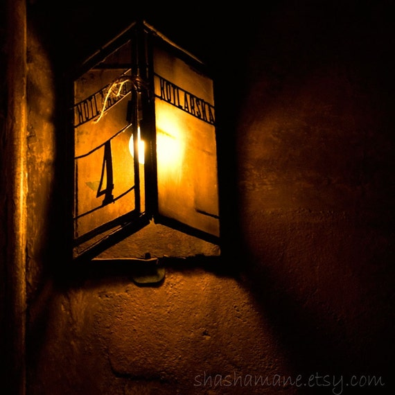 Kotlarska 4. Dark and moody, Polish streetlamp 5x5 fine art photography print
