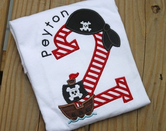 pretty fun pirate birthday shirt