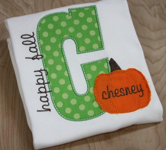 pretty festive happy fall letter shirt with shabby pumpkin