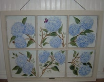 Antique/Vintage Hand Painted Window... One of a Kind