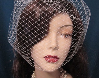 14 inches birdcage veil, bridal veil, wedding veil, french netting