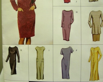 Easy Dress, top and skirt  Vogue 2502  Size 8 to 12 UNCUT