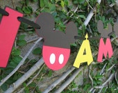 Mickey Mouse I AM ONE Highchair Banner - Made To Order