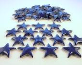Mosaic tile, Blue stars - ceramic