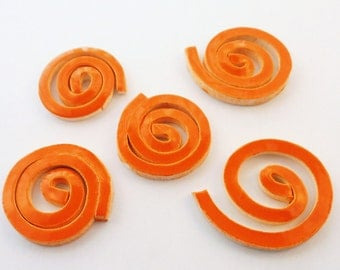 ceramic mosaic tile, orange swirl Tiles - Handmade