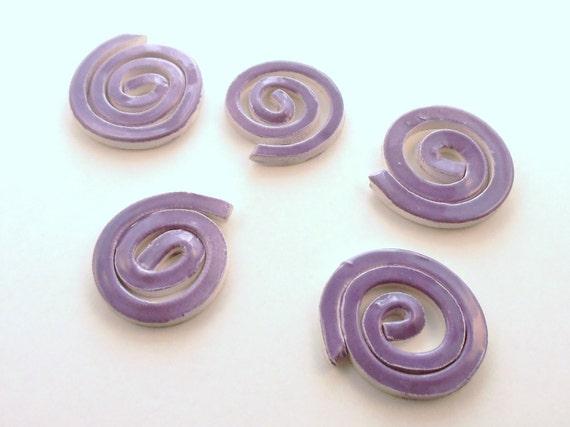 Purple swirls, Mosaic ceramic tiles