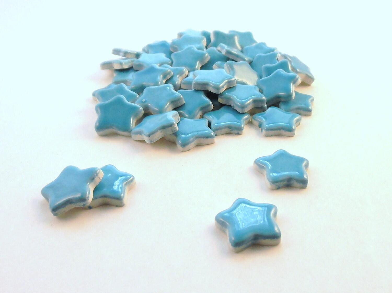 Star tiles ceramic mosaic tiles mosaic tile handmade for Unique mosaic tile