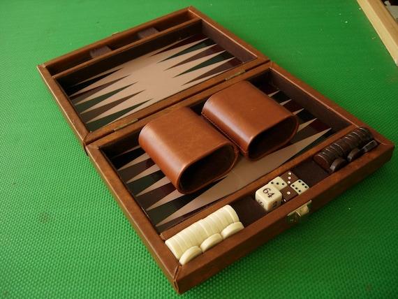 Vintage Travel Backgammon Set