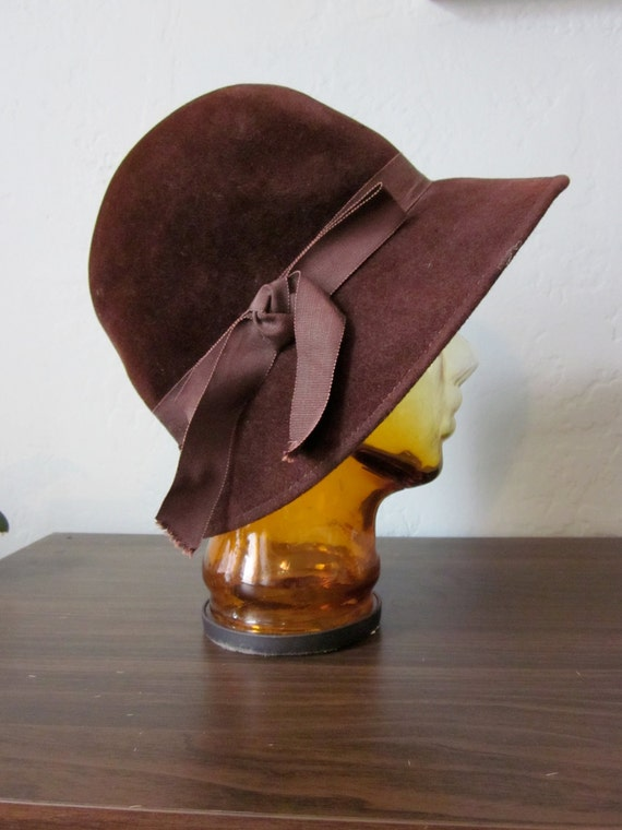 Mocha Brown Bow Bucket Hat