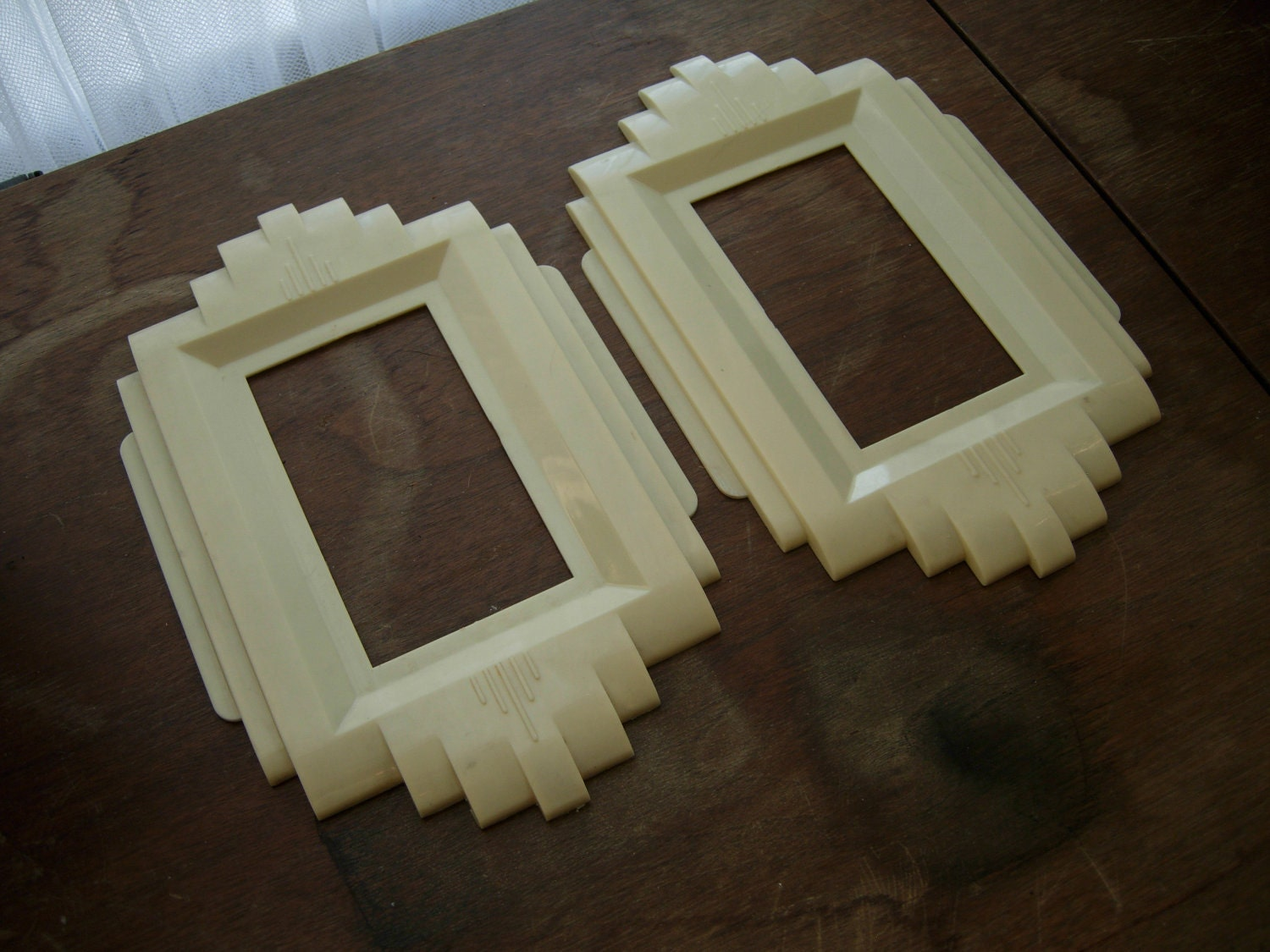 Pair of art deco bakelite switch plates by sergeantsailor on etsy - Art deco switch plate covers ...