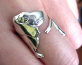 Basset hound ring Unique Sterling Silver Jewelry Adjustable ring Sterling silver ring dog ring Not spoon ring R-032