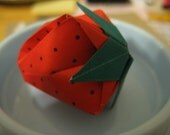 3-D Origami Strawberry