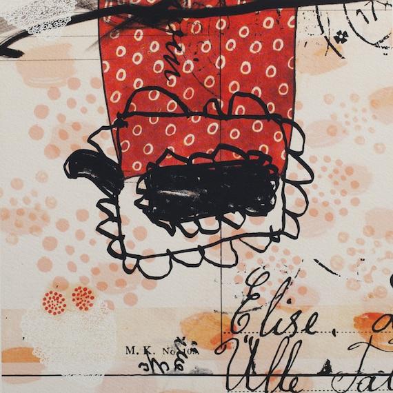 print art ornament giclee pattern red white black pink text scandinavian nordic