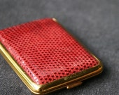 The elegant red leather case