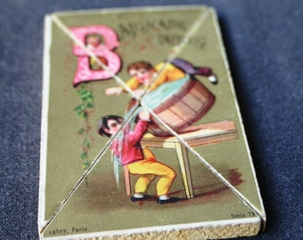 Do you know your alphabet. French card letter B.