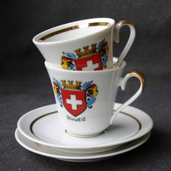The perfect pair of cups. Swiss made.