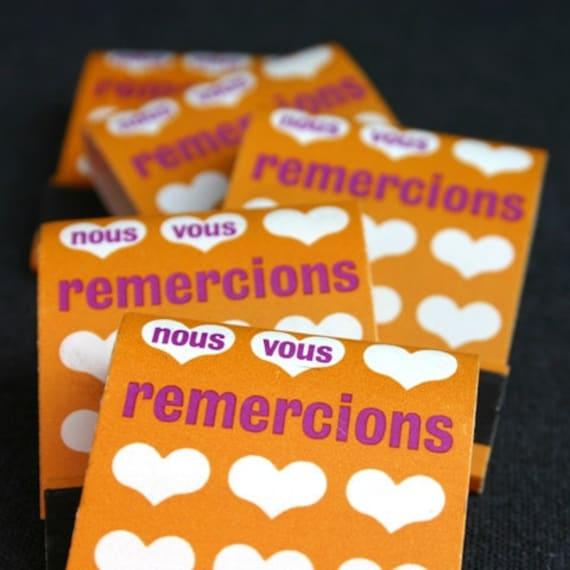 We thank you. Vintage French favor matchbook.