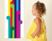 Rainbow Height Chart / Growth Chart  for the modern kid by Erupt Prints. Bright nursery decor for your little one