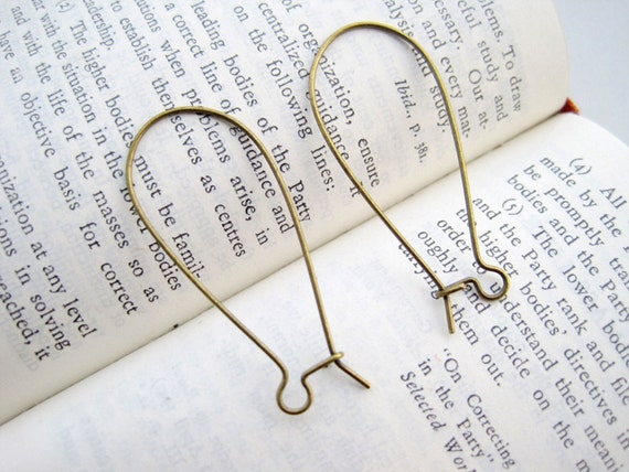 EG19- 100PCS Antique Bronzed Kidney Ear Wires Wholesale
