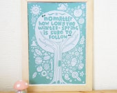 Spring Time - Illustration and Hand Lettering Nusery / Studio Digital Print