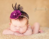 Deluxe Purple Ranunculus Flower Headband