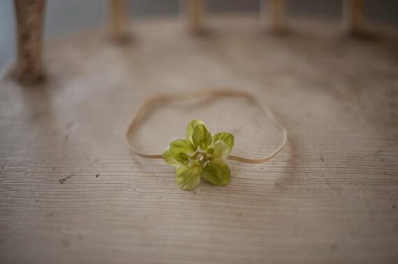 Green Star Flower Headband