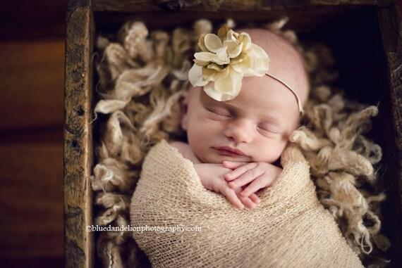Beautiful neutrals flower headband