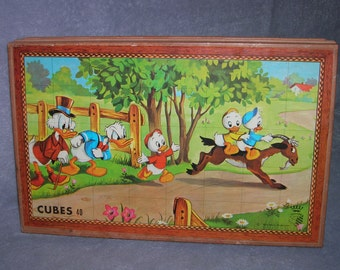 French made CUBES puzzle with 40 cubes in original box