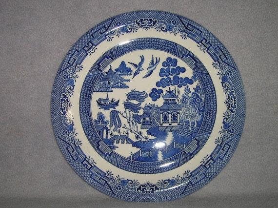 Blue Willow serving platter