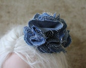 Blue and White HAIR FLOWER for Blythe