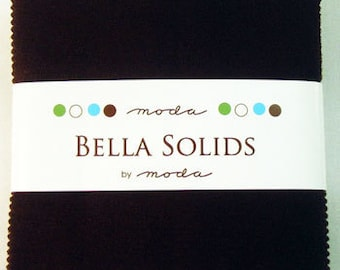 """Moda Charm Pack BELLA SOLIDS Brown, 5"""" Quilt Squares"""